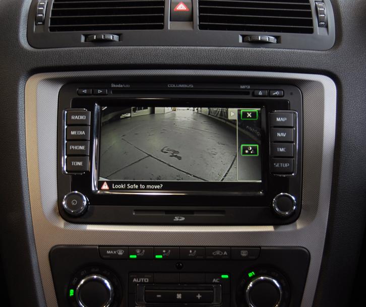Interface caméra de recul Skoda Fabia, Octavia, Yeti, Roomster, Superb et Rapid avec autoradio MFD2, Skoda Columbus et Amundsen+