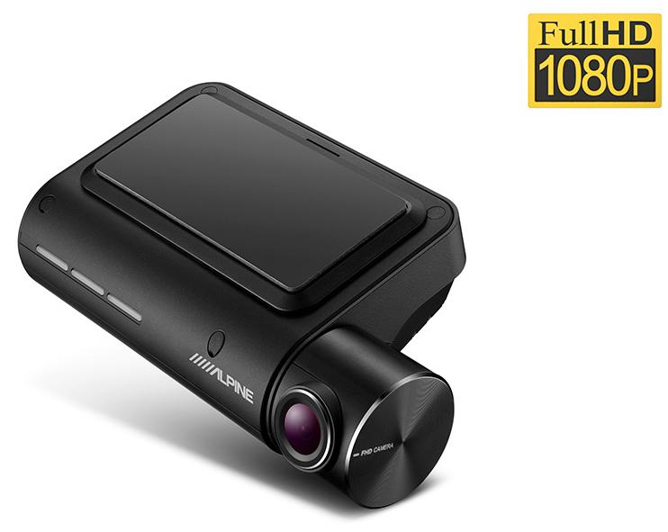 Dashcam avant Alpine DVR-F800PRO : Caméra embarquée Full HD avec système d\'assistance avancée au conducteur