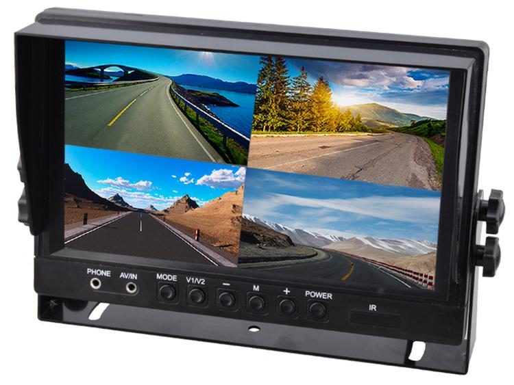 Moniteur écran 23cm (9) LCD avec 4 entrées vidéos RCA
