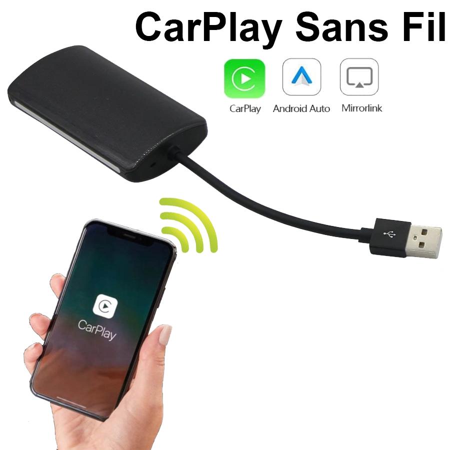Convertir votre Apple Carplay d\'origine USB en SANS FIL (compatible nombreux véhicules)