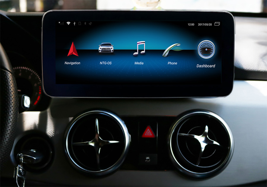Autoradio tactile Android 10.0 et Apple Carplay Mercedes GLK X204 de 2008 à 2015