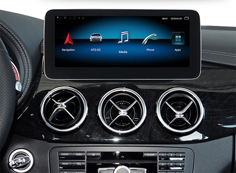 Autoradio tactile Android 10.0 et Apple Carplay Mercedes Classe B de 2013 à 2018