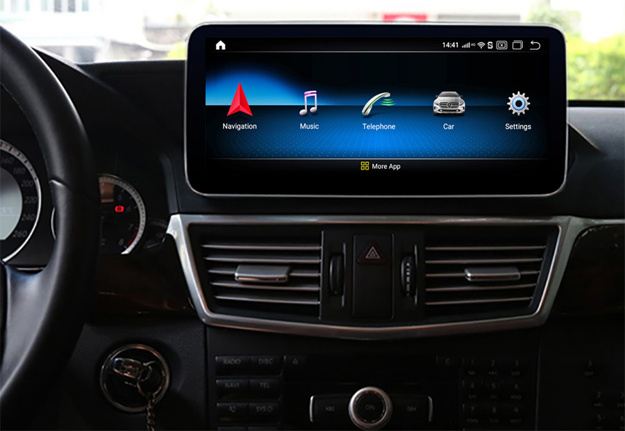 Autoradio tactile Android 10.0 et Apple Carplay Mercedes Classe E de 2009 à 2016