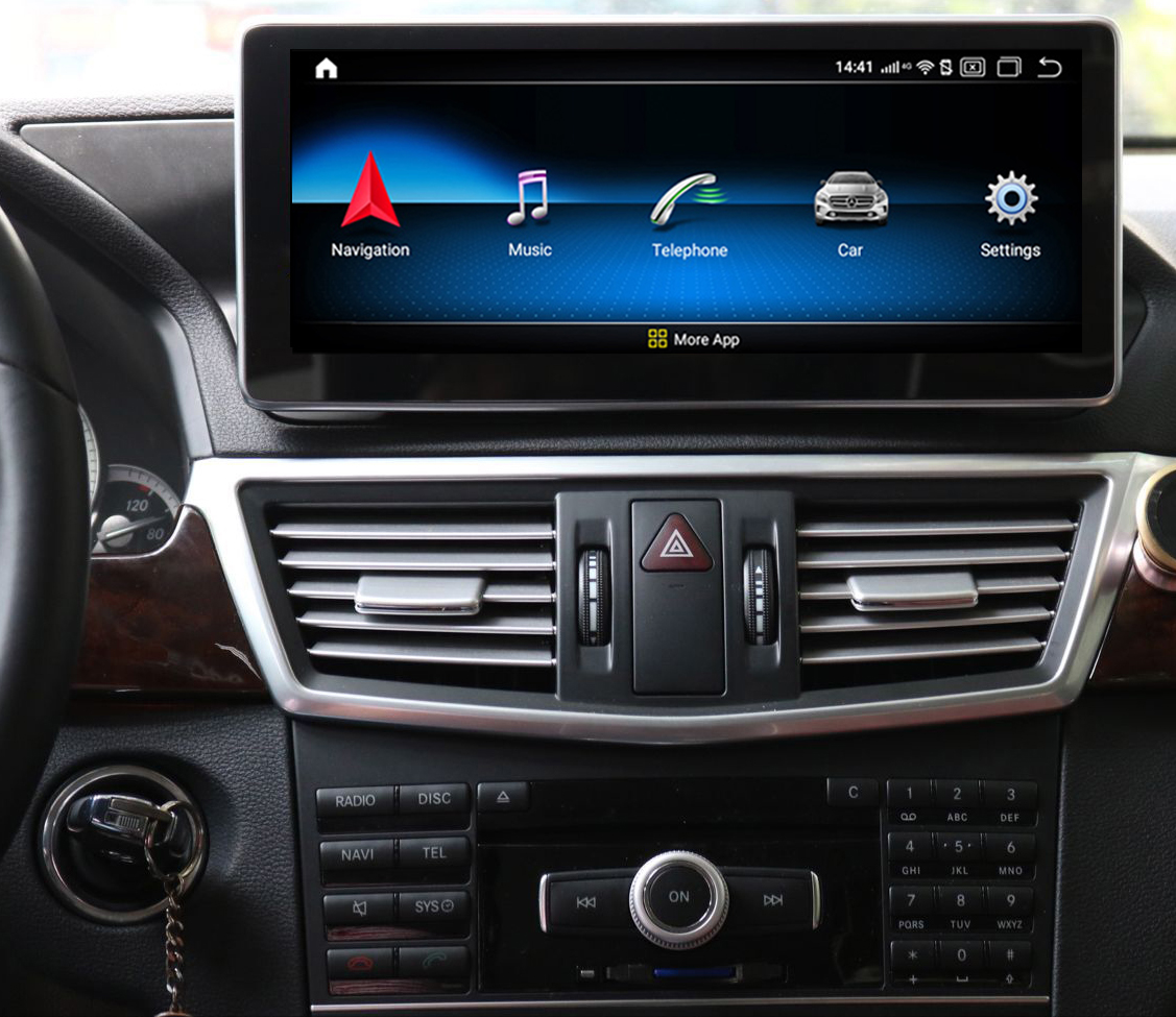 Autoradio tactile Android 10.0 et Apple Carplay Mercedes Classe C W204 de 2007 à 2014