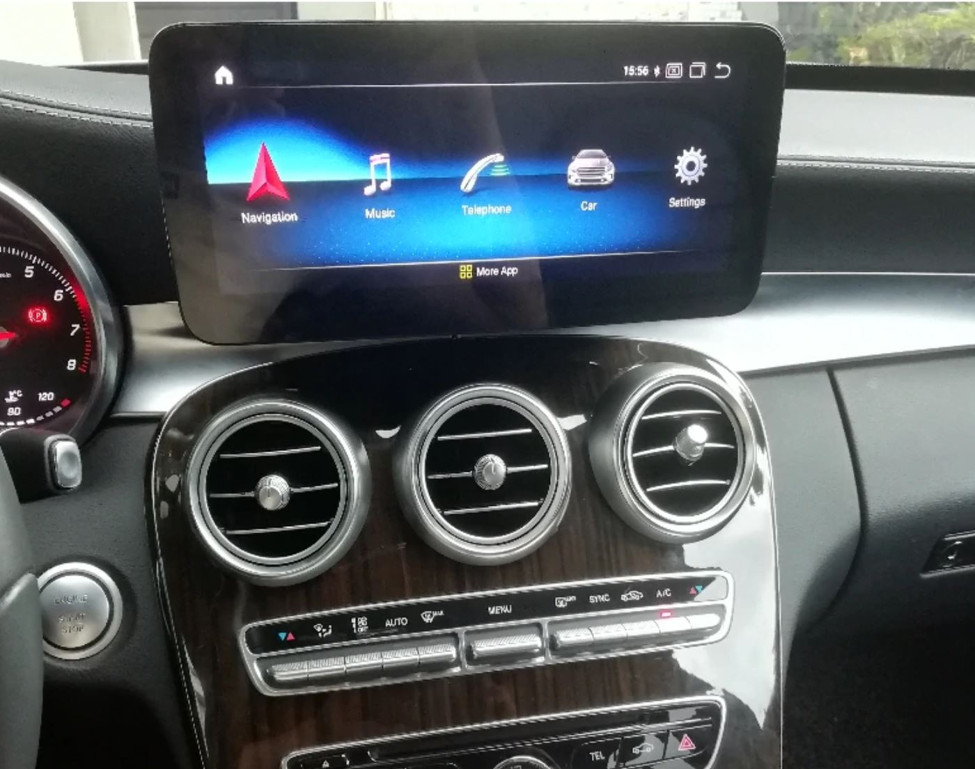 Autoradio tactile Android 10.0 et Apple Carplay Mercedes Classe C et GLC de 2015 à 2018