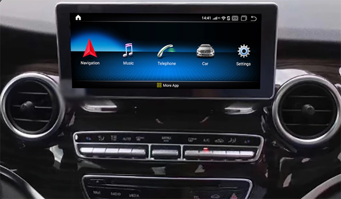 Autoradio tactile Android 10.0 et Apple Carplay Mercedes Classe V depuis 2015