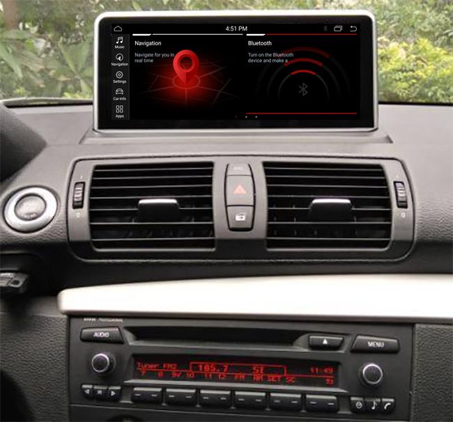 Autoradio tactile Android 10.0 et Apple Carplay BMW Série 1 de 2006 à 2012