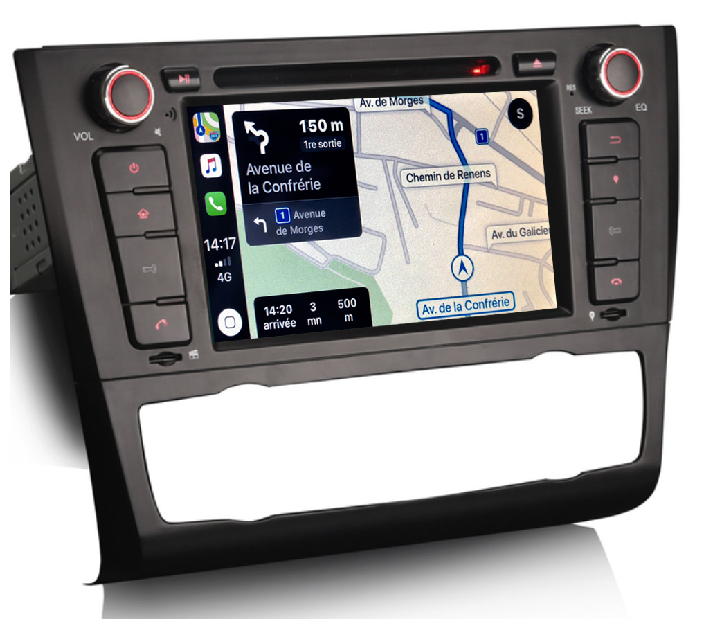 Autoradio tactile GPS Android 9.0 et Bluetooth BMW Série 1 2006 à 2012