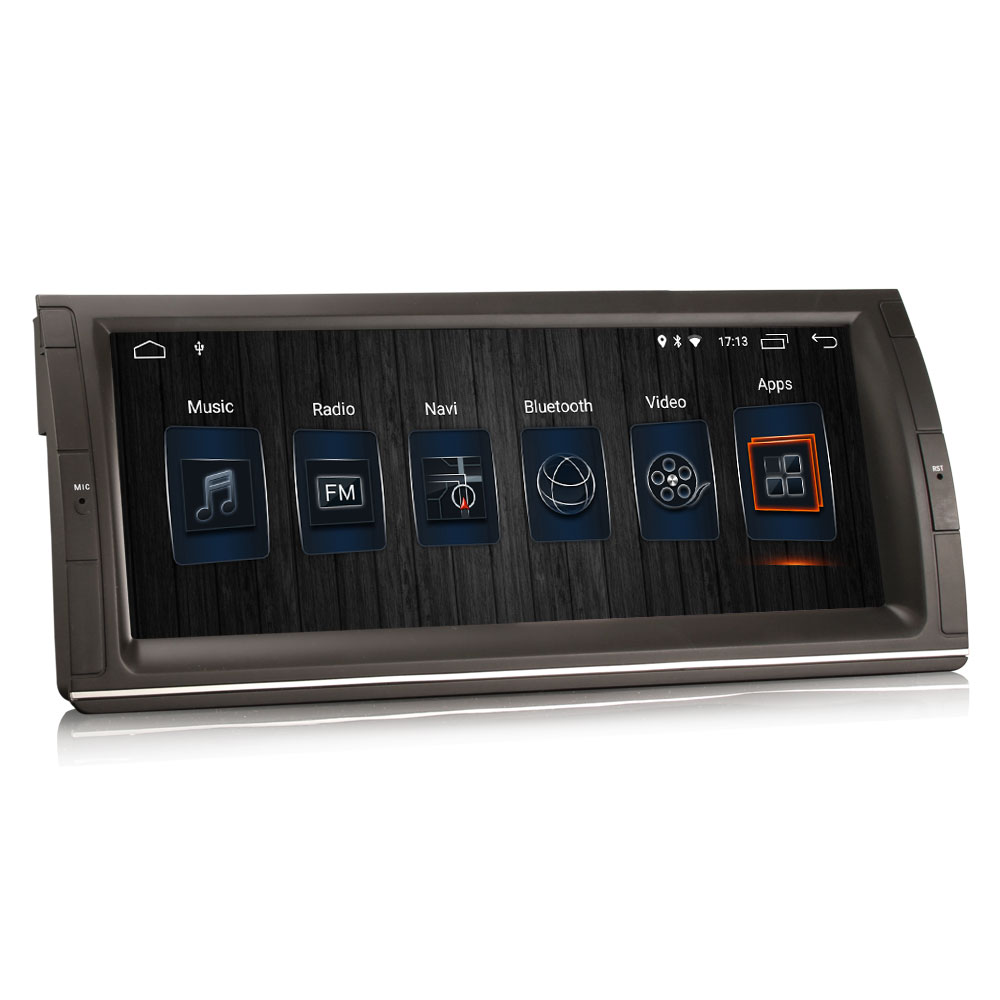 Autoradio tactile GPS Android 9.0 et Apple Carplay BMW X5 E53 et BMW Série 5 E39