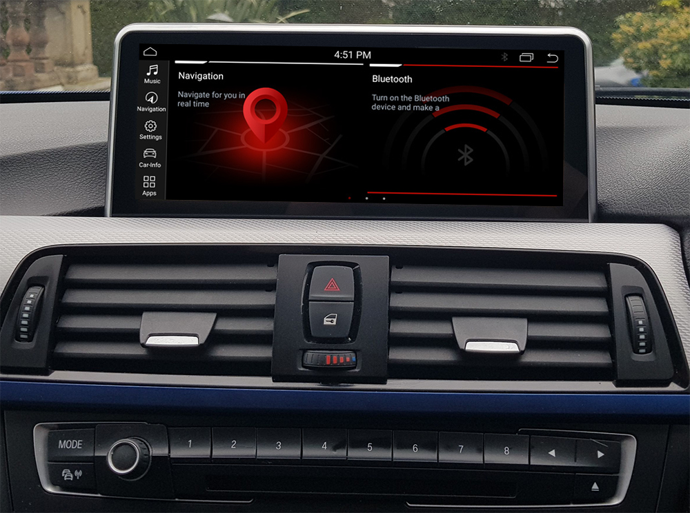 Autoradio tactile Android 10.0 et Apple Carplay BMW Série 3 F30 et BMW Série 4 de 2012 à 2020