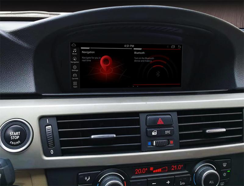 Autoradio écran tactile GPS Android BMW Série 5 de 2003 à 2010 et Série 3 E90 de 2005 à 2012
