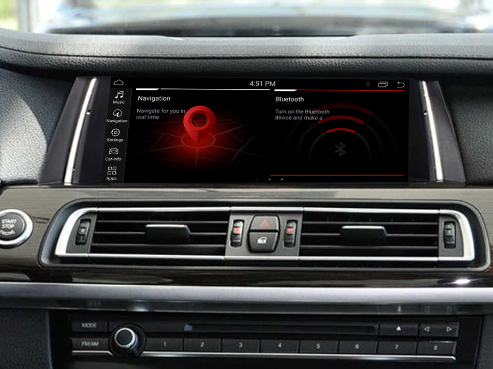Autoradio tactile Android 10.0 et Apple Carplay BMW Série 7 F01 F02 de 2009 à 2015