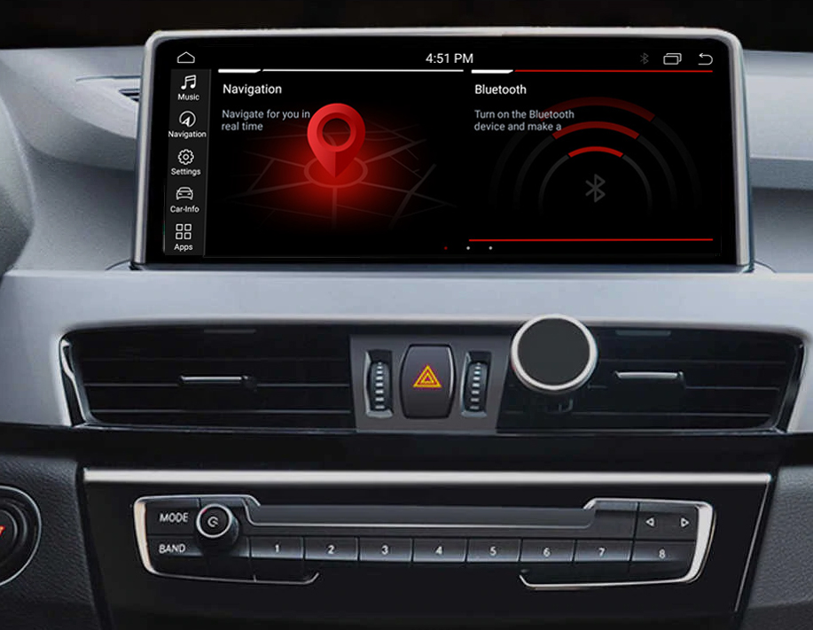 Autoradio tactile Android 10.0 et Apple Carplay BMW X1 F48 depuis 2016 et BMW X2 F39 depuis 2018