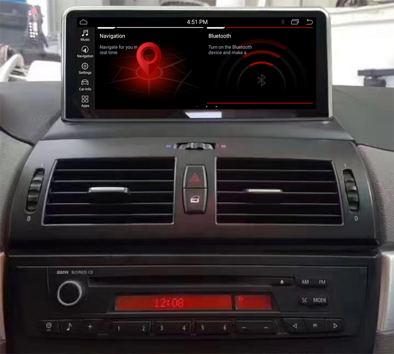 Autoradio tactile Android 10.0 et Apple Carplay BMW X3 de 2004 à 2010