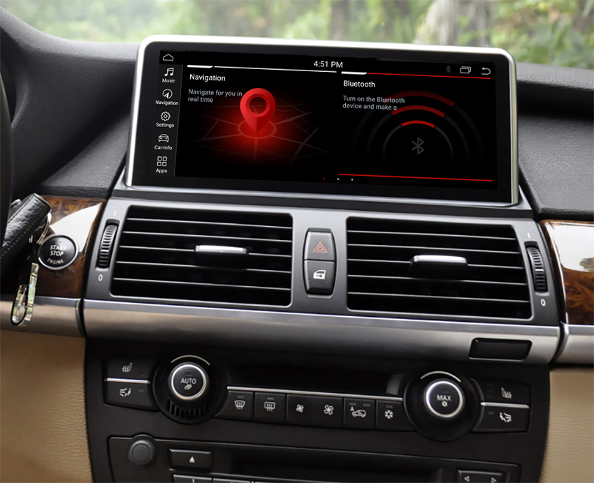 Autoradio tactile Android 10.0 et Apple Carplay BMW X5 E70 et BMW X6 E71 de 2007 à 2013