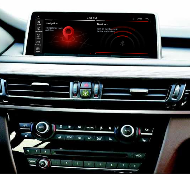 Autoradio tactile Android 10.0 et Apple Carplay BMW X5 et BMW X6 de 2014 à 2020