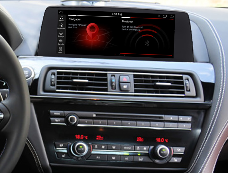Autoradio tactile Android 10.0 GPS BMW Série 6 F06/F12