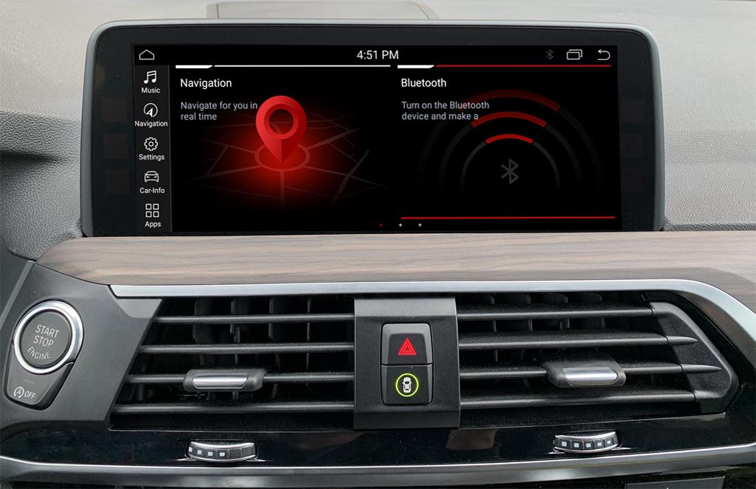Autoradio tactile Android 10.0 GPS BMW X3 et BMW X4 depuis 2018