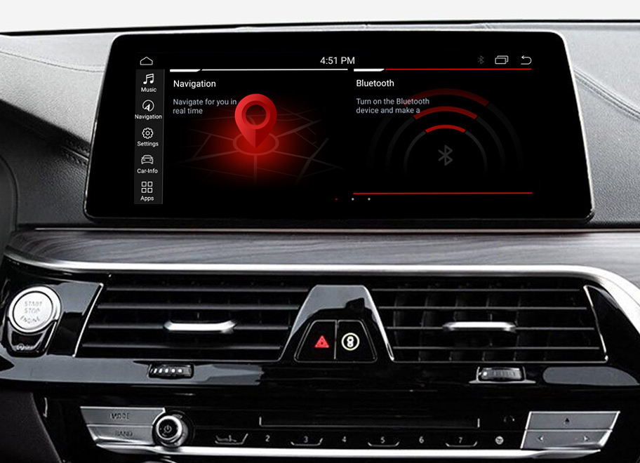 Autoradio tactile Android 10.0 GPS BMW Série 5 G30 et BMW Série 6 G32 depuis 2018