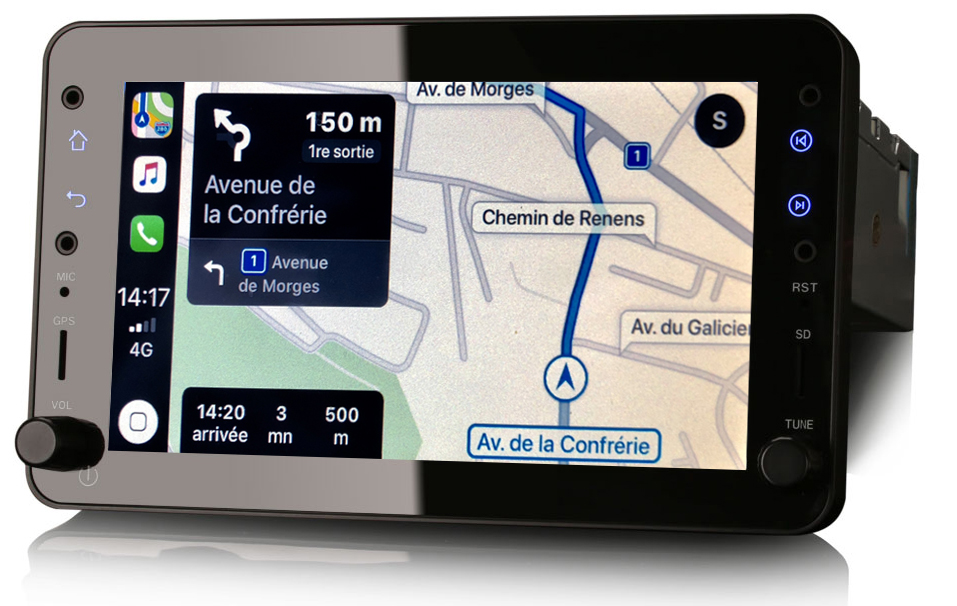 Autoradio tactile GPS Android 10.0 et Apple Carplay Alfa Romeo 159, Brera et Spider
