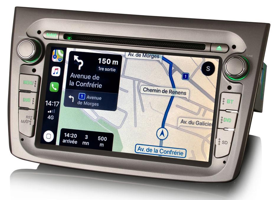 Autoradio tactile GPS Android 10.0 et Apple Carplay Alfa Romeo Mito de 2008 à 2019