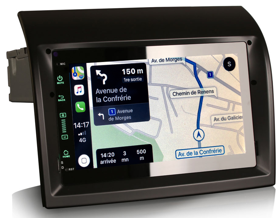 Autoradio tactile GPS Android 10.0 et Apple Carplay Fiat Ducato de 2011 à 2014