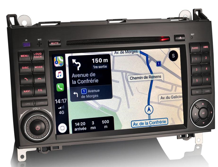 Autoradio tactile GPS DVD et Apple Carplay Mercedes Benz Classe A, Classe B, Vito et Viano