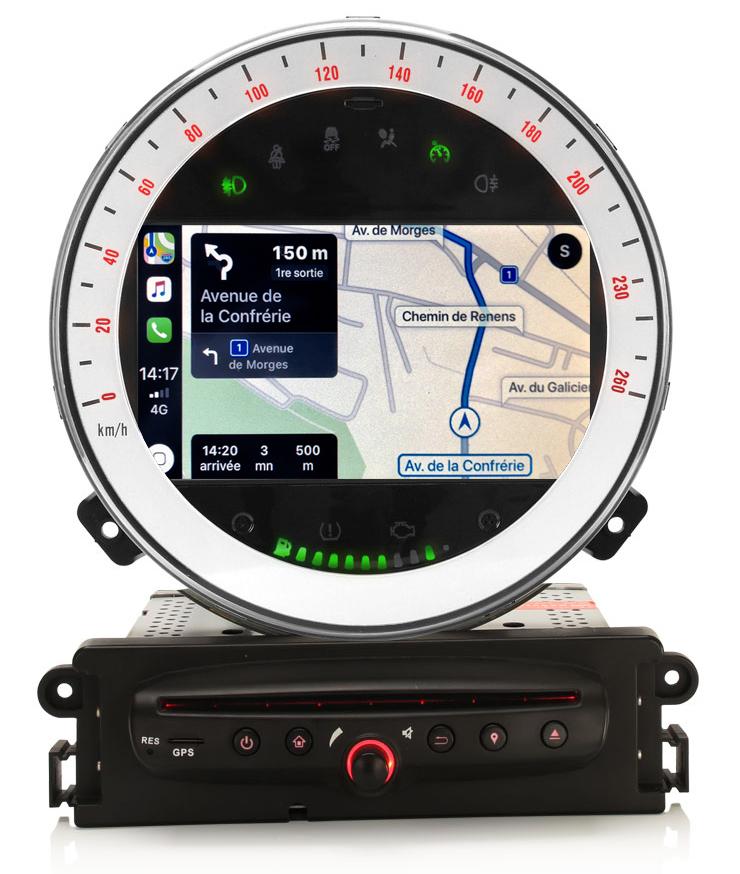 Autoradio tactile GPS Android 10.0 et Bluetooth Mini Cooper, Cabriolet et Clubman de 2010 à 2014