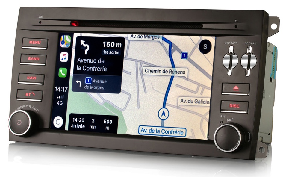 Autoradio tactile GPS Android 10.0 et Apple Carplay Porsche Cayenne de 2003 à 2010