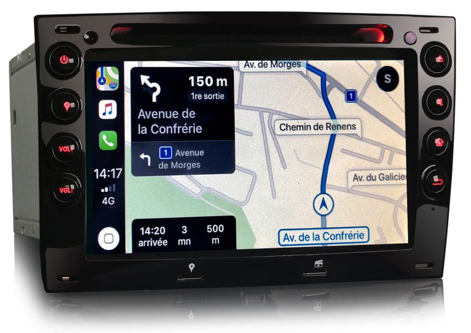 Autoradio tactile GPS Android 9.0 et Bluetooth Renault Megane de 2003 à 2008