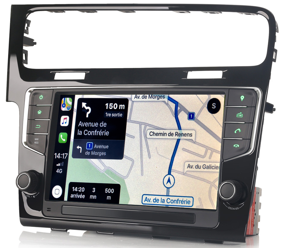 Autoradio tactile GPS Android 9.0 et Bluetooth Volkswagen Golf 7