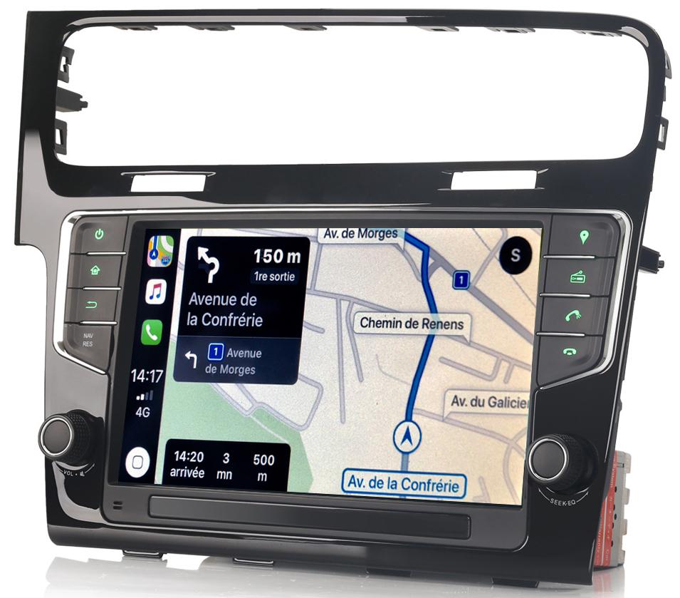 Autoradio tactile GPS Android 10.0 et Bluetooth Volkswagen Golf 7