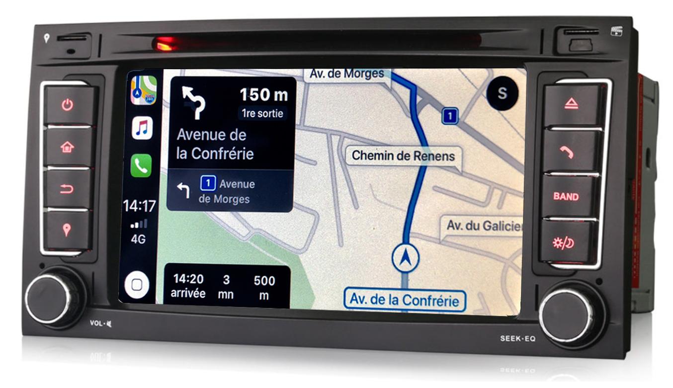 Autoradio tactile GPS Android 9.0 et Bluetooth Volkswagen Touareg et Multivan Transporter de 2003 à 2010