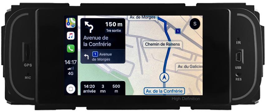 Autoradio tactile GPS Android 10.0 et Bluetooth Chrysler 300M, Voyager, Sebring, PT Cruiser et Grand Voyager