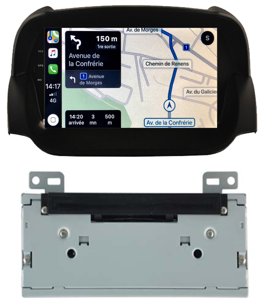 Autoradio tactile GPS Android 10.0 et Bluetooth Ford EcoSport de 2012 à 2017