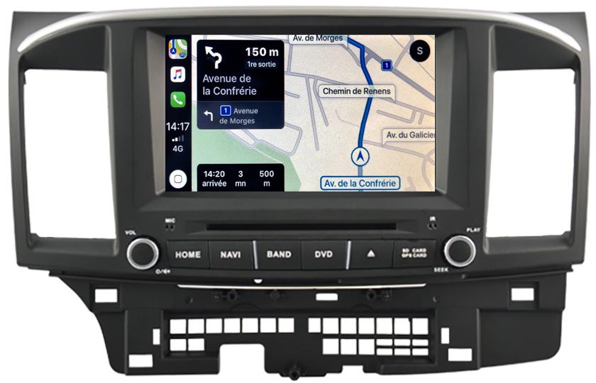 Autoradio tactile GPS Android 10.0 et Bluetooth Mitsubishi Lancer de 2008 à 2010