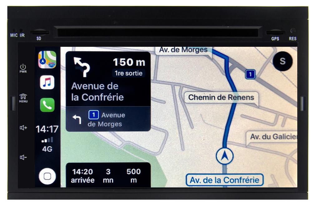 Autoradio Android 10 Wifi GPS Waze Citroën C2, Citroën C3, C3 Picasso, Berlingo et Jumpy