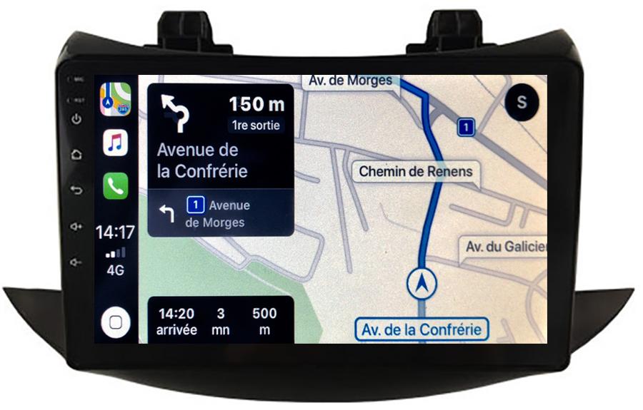 Autoradio GPS à écran tactile QLED Android 10.0 et Apple Carplay sans fil Chevrolet Trax depuis 2017