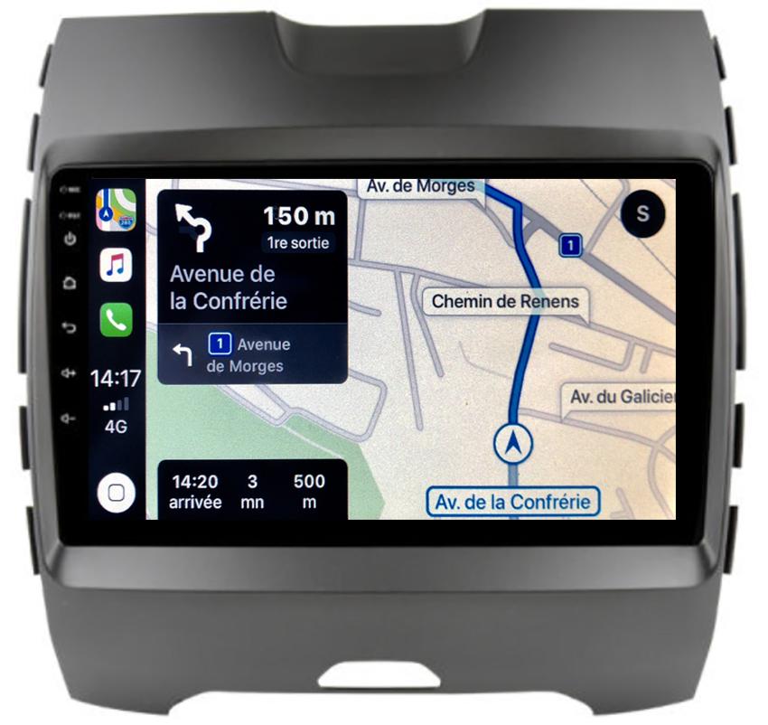 Autoradio tactile GPS Android 10.0 et Bluetooth Ford Edge de 2014 à 2019