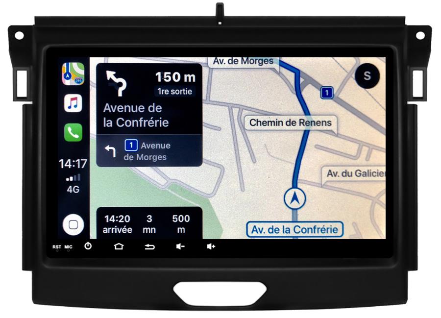 Autoradio tactile GPS Android 10.0 et Bluetooth Ford Ranger et Everest depuis 2015