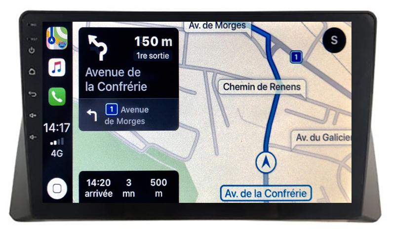 Autoradio GPS à écran tactile QLED Android 10.0 et Apple Carplay sans fil Honda Accord de 2008 à 2013