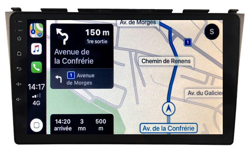 Autoradio tactile GPS Android 10.0 et Apple Carplay sans fil Honda CR-V 2006 à 2012