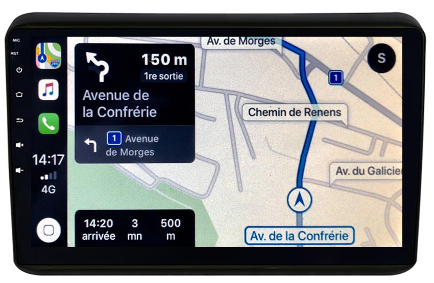 Autoradio GPS à écran tactile QLED Android 10.0 et Apple Carplay sans fil Honda HR-V de 2015 à 2018