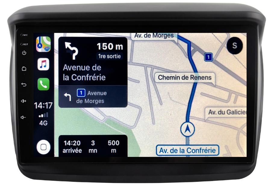 Autoradio tactile GPS Android 10.0 et Bluetooth Mitsubishi L200 de 03/2006 à 10/2015