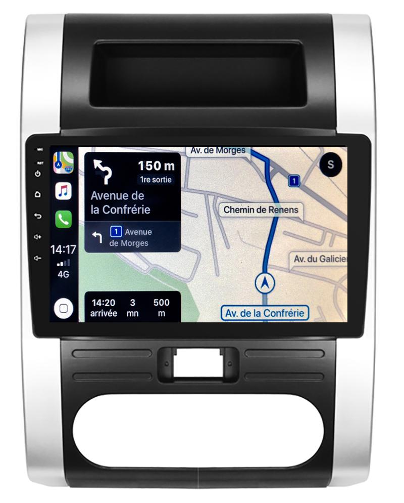 Autoradio GPS à écran tactile QLED Android 10.0 et Apple Carplay sans fil Nissan X-Trail de 2007 à 2013