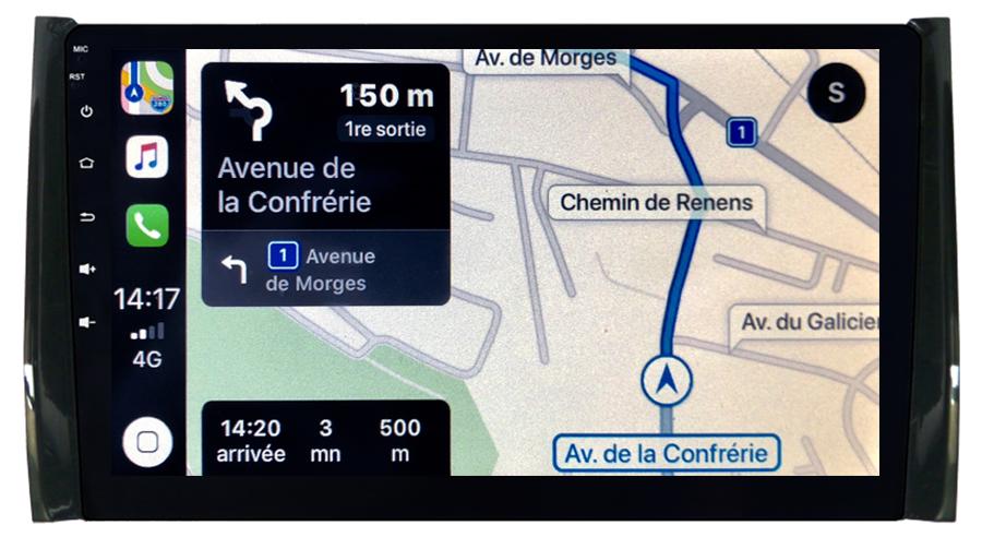 Autoradio tactile GPS Android 10.0 et Apple Carplay sans fil Skoda Kodiaq depuis 2017