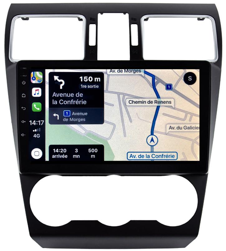 Autoradio GPS à écran tactile QLED Android 10.0 et Apple Carplay sans fil Subaru Forester de 2013 à 2018
