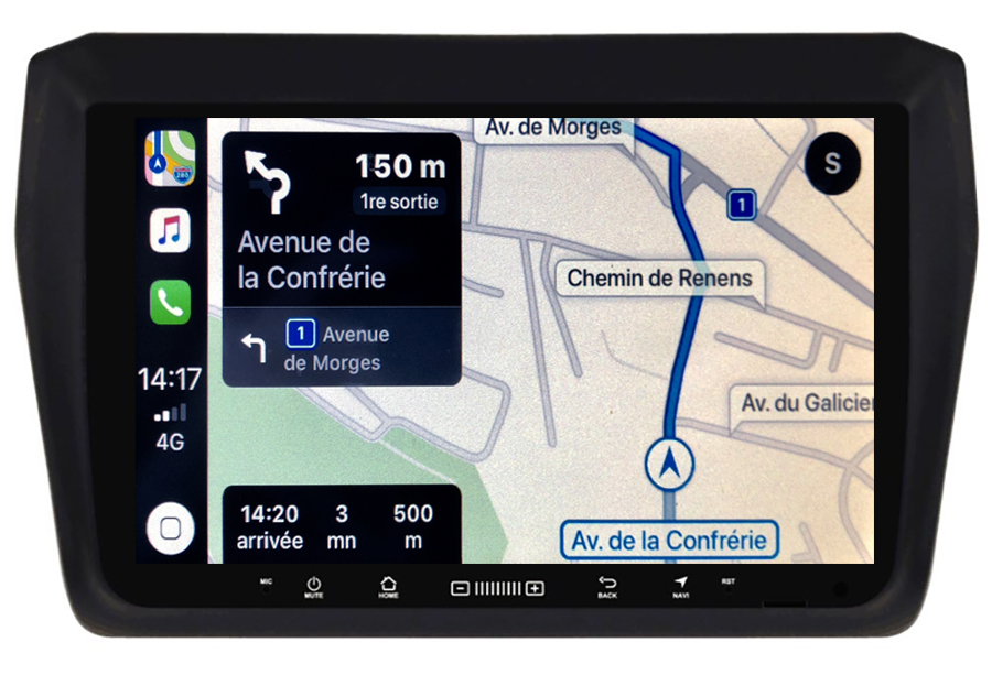 Autoradio GPS à écran tactile QLED Android 10.0 et Apple Carplay sans fil Suzuki Swift depuis 2017
