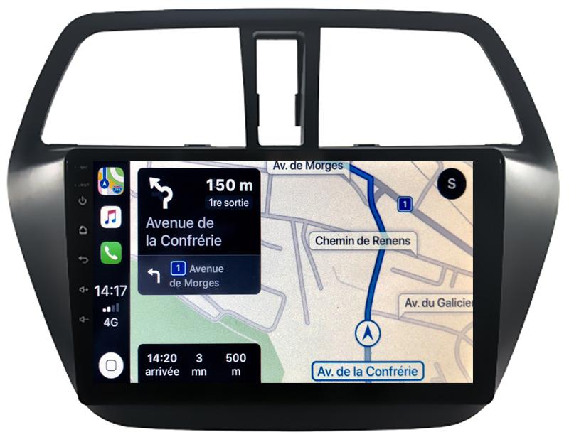Autoradio GPS à écran tactile QLED Android 10.0 et Apple Carplay sans fil Suzuki SX4 S-Cross depuis 2013