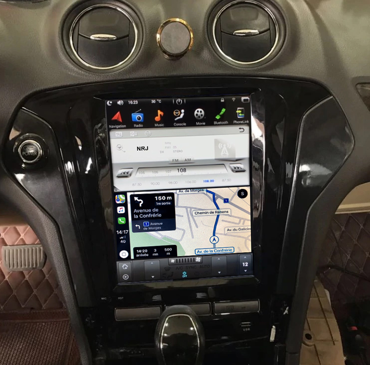 Ecran Tesla Style GPS Android 8.1 et Apple Carplay Ford Mondeo de 2007 à 2013